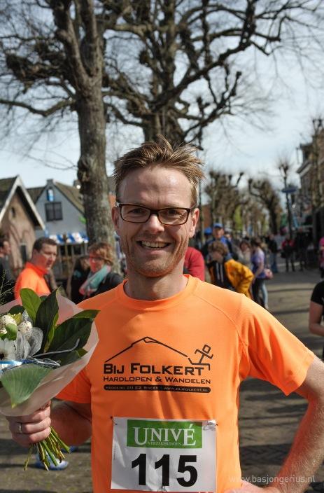 Winnaar van de 10km heren, Jetze Genee.